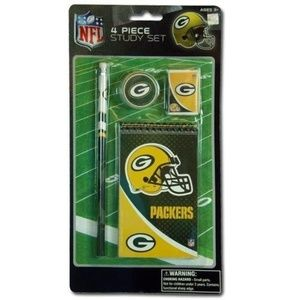 NFL Green Bay Packers 4pk Study Kit Party Favor
